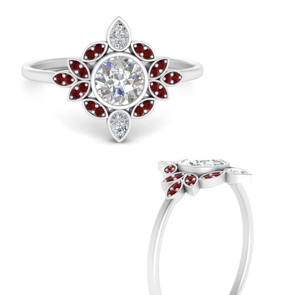 round-bezel-vintage-floral-diamond-engagement-ring-with-ruby-in-FD9630RORGRUDRANGLE3-NL-WG