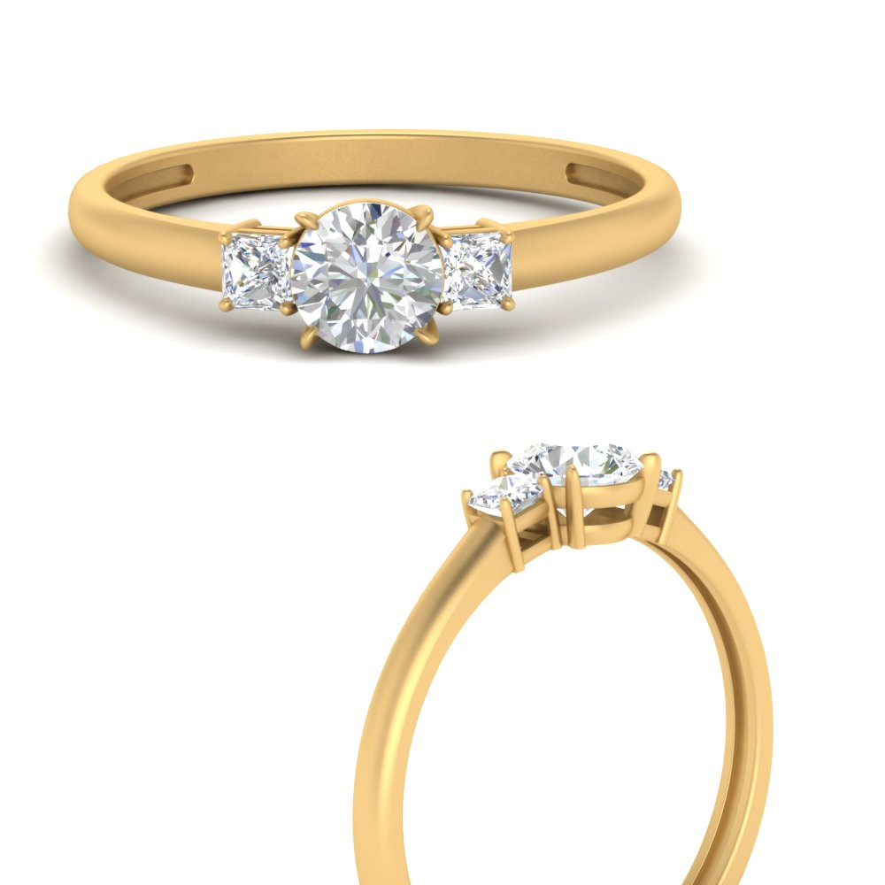 3-stone-round-cut-moissanite-engagement-ring-in-FD9634RORANGLE3-NL-YG