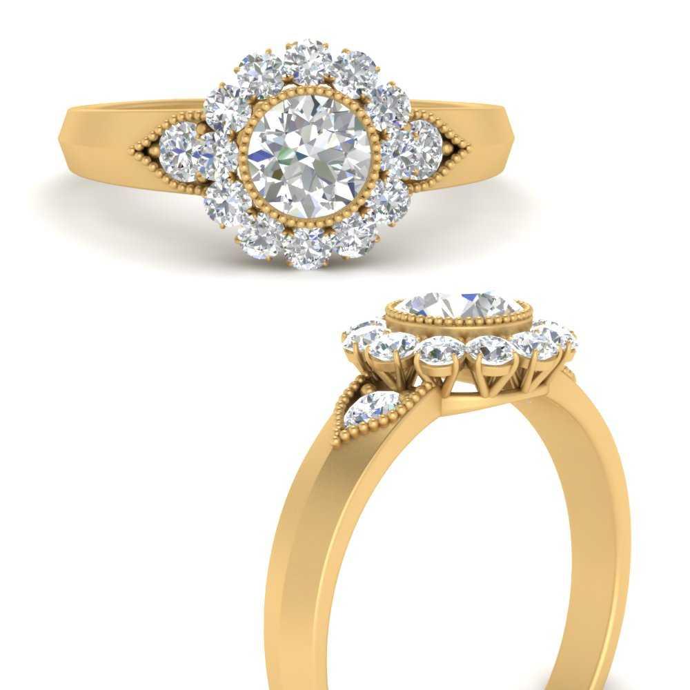 bezel-milgrain-round-diamond-antique-ring-in-FD9645RORANGLE3-NL-YG