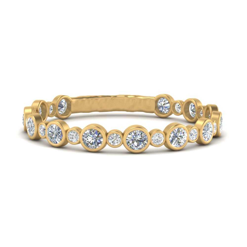 alternating-bezel-set-round-diamond-wedding-band-in-FD9649B-NL-YG