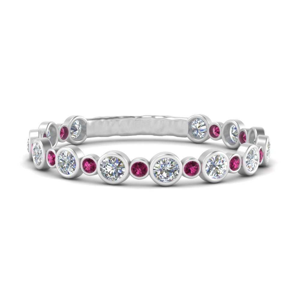 round-bezel-set-diamond-half-eternity-ring-with-pink-sapphire-in-FD9649BGSADRPI-NL-WG