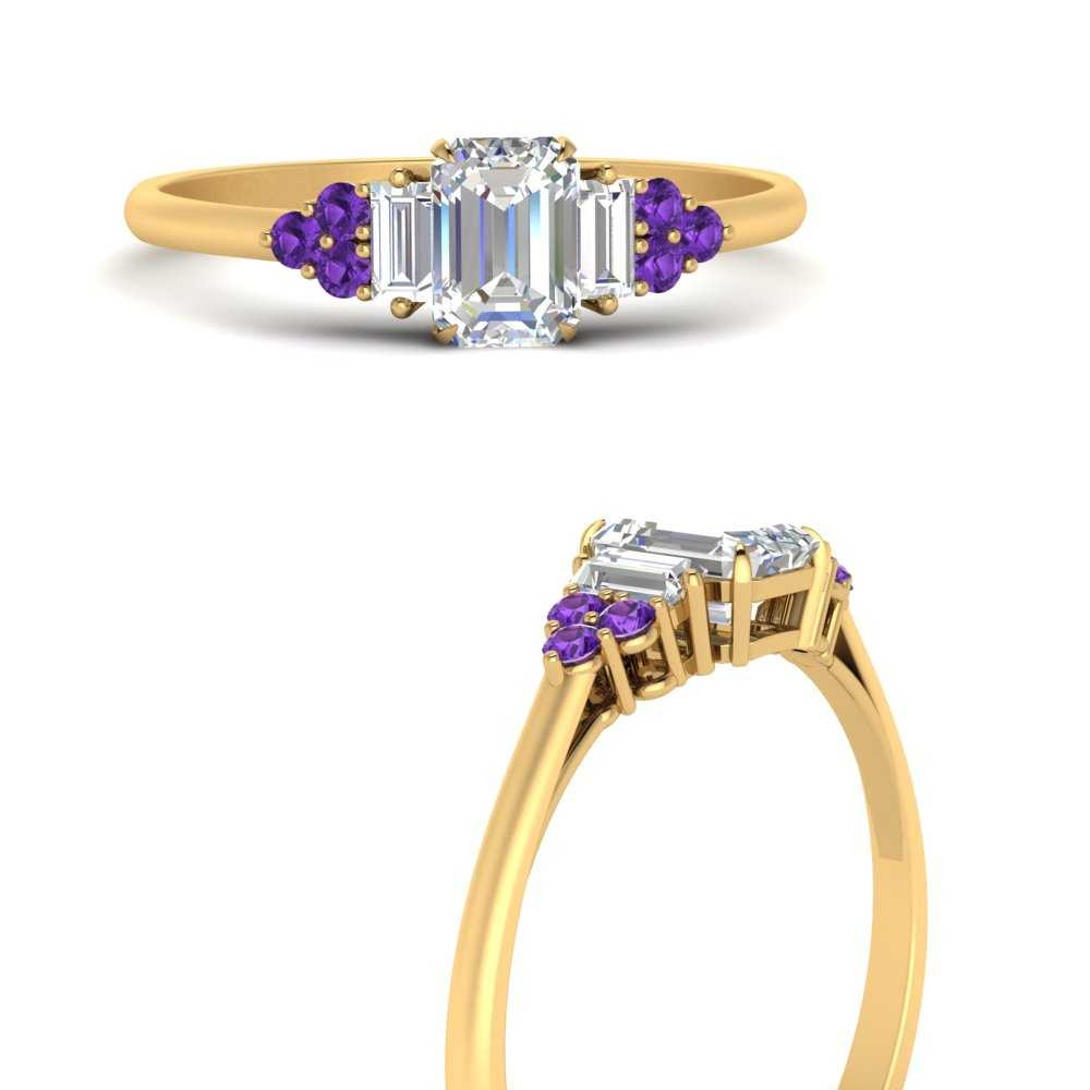 baguette-cluster-emerald-cut-diamond-engagement-ring-with-purple-topaz-in-FD9651EMRGVITOANGLE3-NL-YG