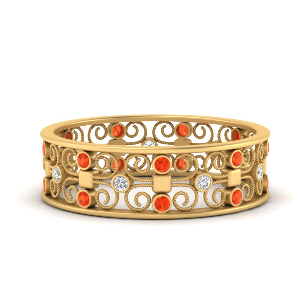 bezel-set-filigree-orange-topaz-wedding-band-in-FD9652BGPOTO-NL-YG