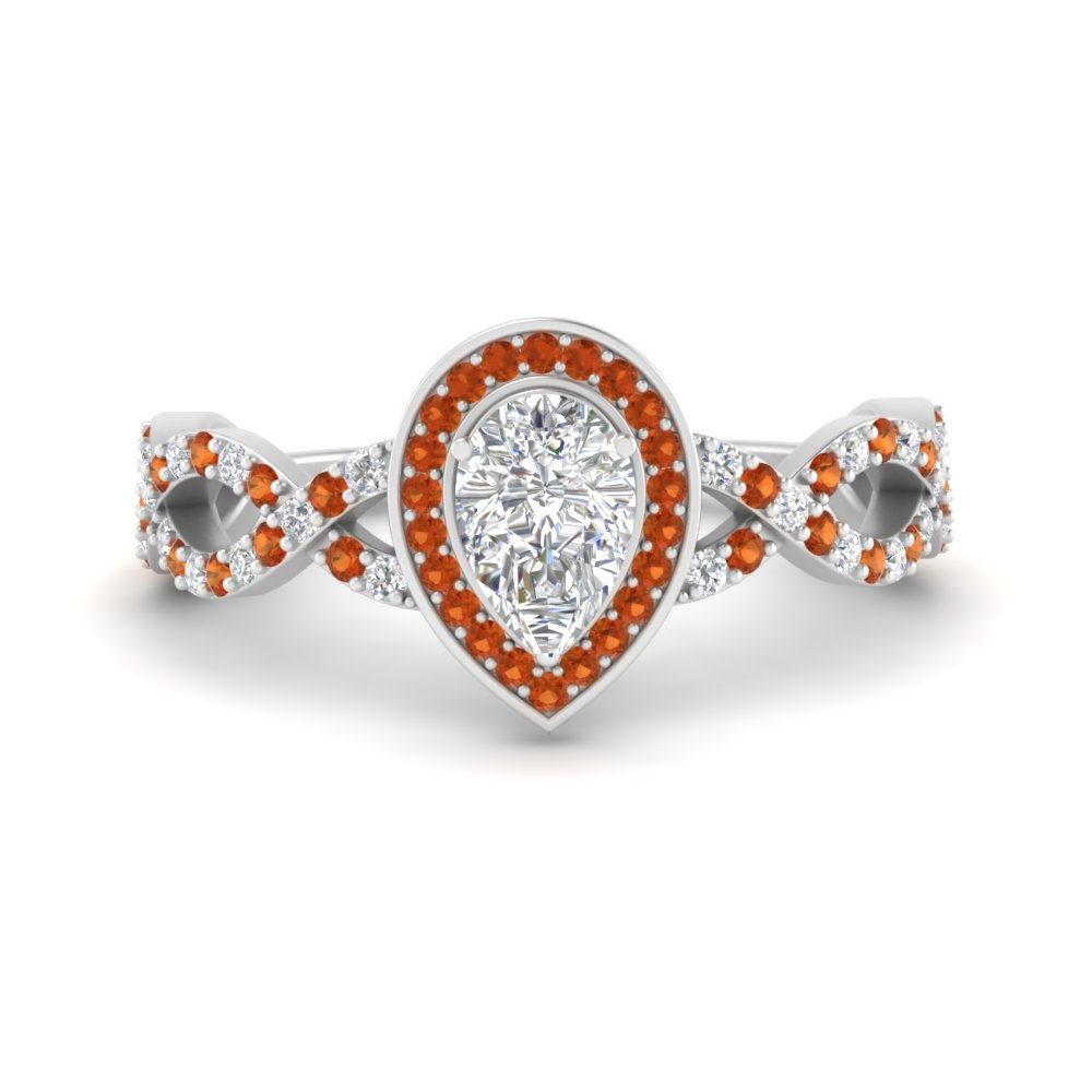 pear-intertwined-halo-diamond-engagement-ring-with-orange-sapphire-in-FD9653PERGSOR-NL-WG