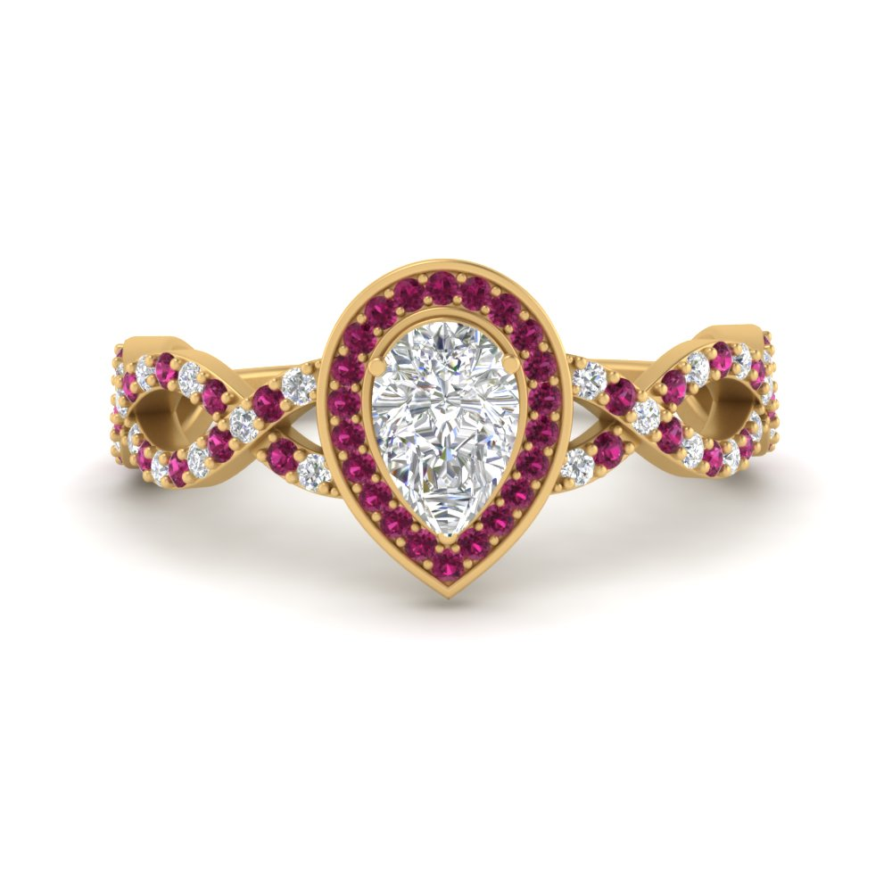 pear-intertwined-halo-diamond-engagement-ring-with-pink-sapphire-in-FD9653PERGSADRPI-NL-YG