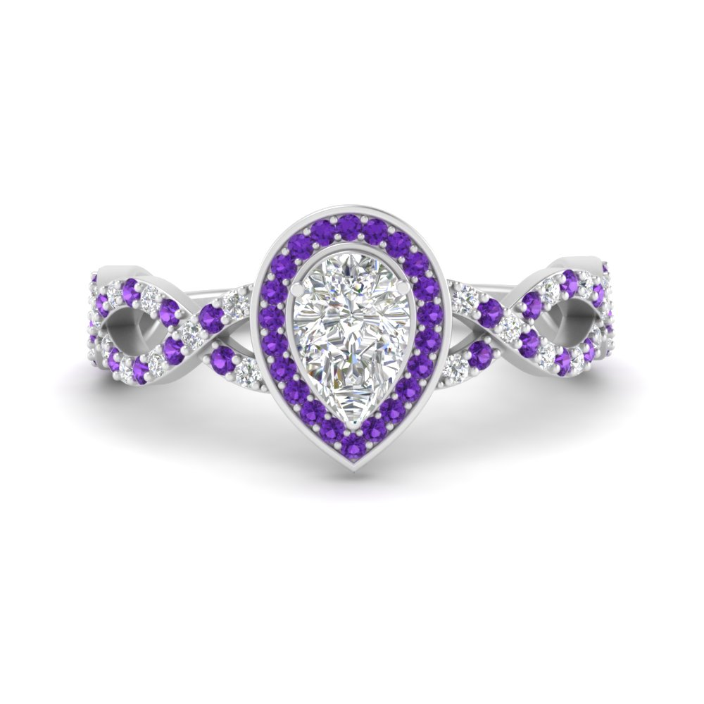 pear-intertwined-halo-diamond-engagement-ring-with-purple-topaz-in-FD9653PERGVITO-NL-WG