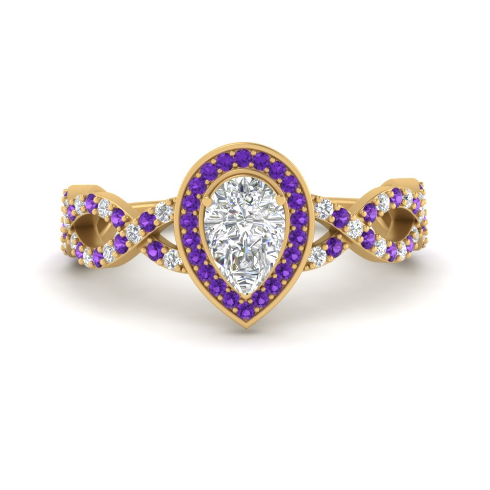 pear-intertwined-halo-diamond-engagement-ring-with-purple-topaz-in-FD9653PERGVITO-NL-YG