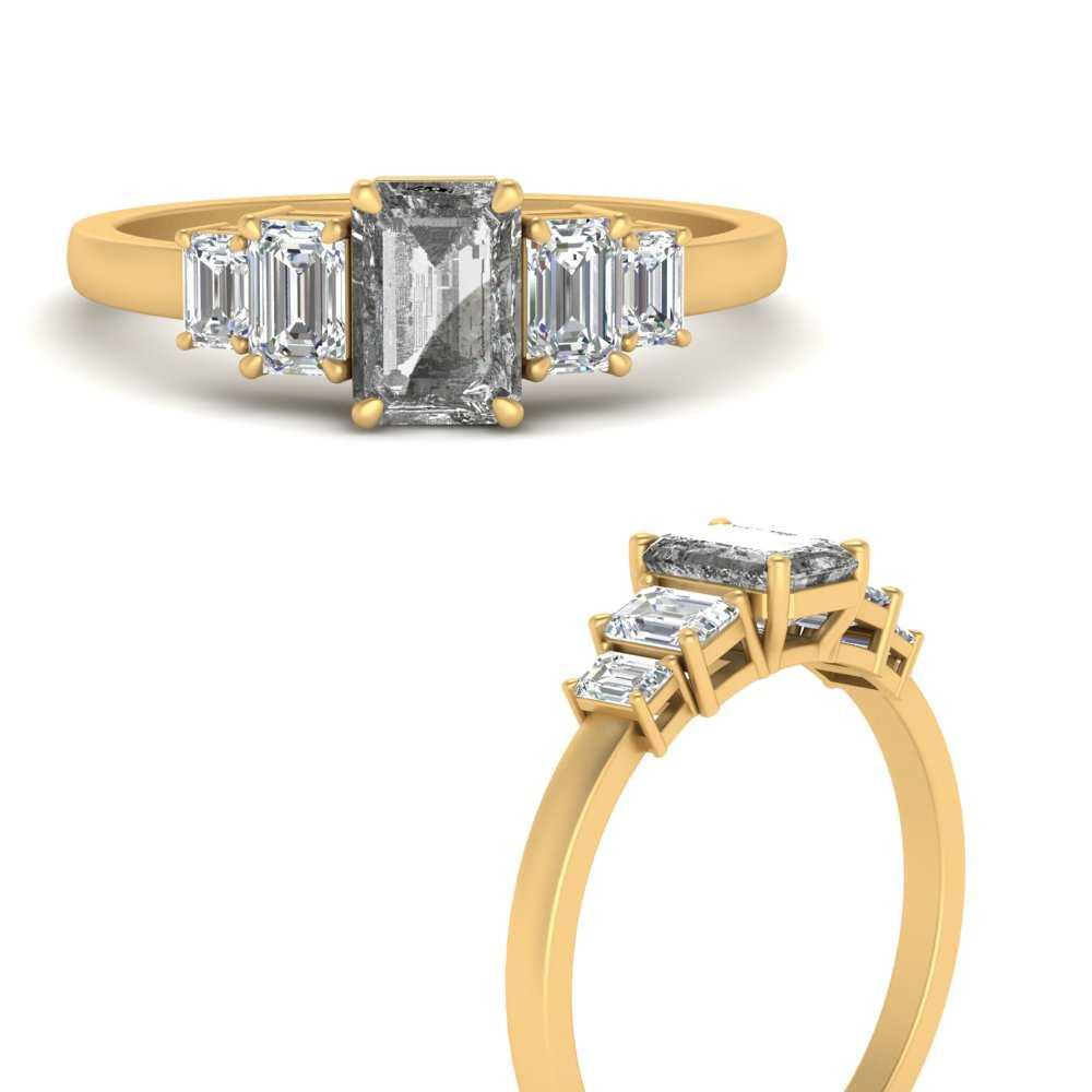 emerald-cut-salt-n-pepper-diamond-ring-in-FD9663EMRGGRYANGLE3-NL-YG