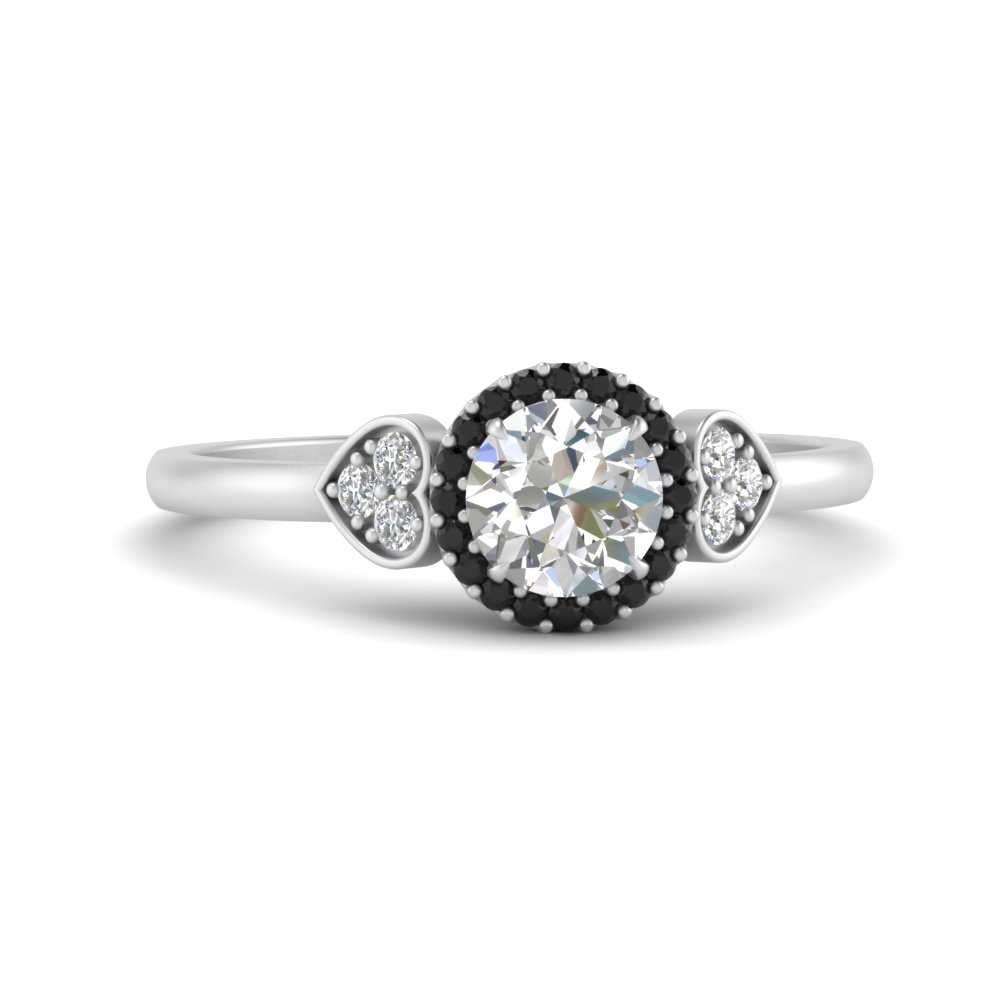 round-cluster-halo-black-diamond-engagement-ring-in-FD9664RORGBLACK-NL-WG