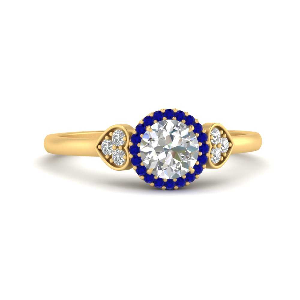 round-halo-sapphire-heart-vintage-engagement-ring-in-FD65559RORGSABL-NL-YG