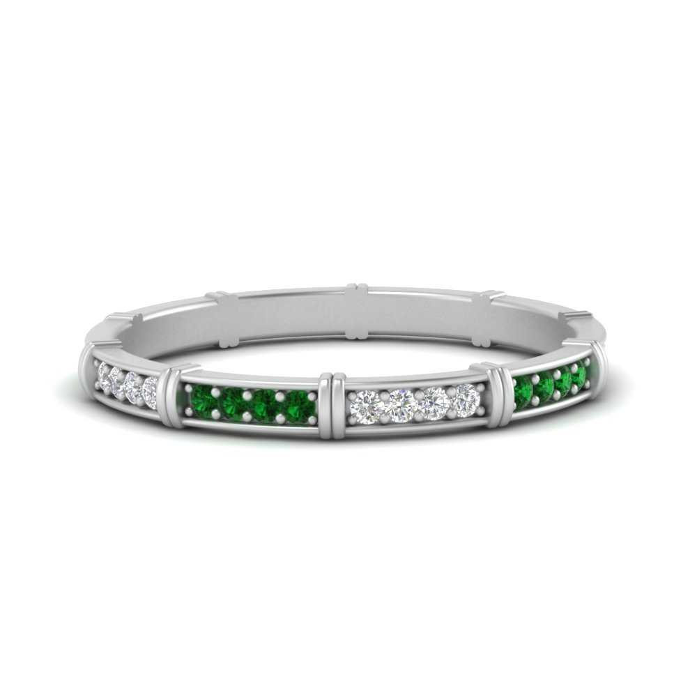 pave-link-diamond-stacking-band-with-emerald-in-FD9666BGEMGR-NL-WG