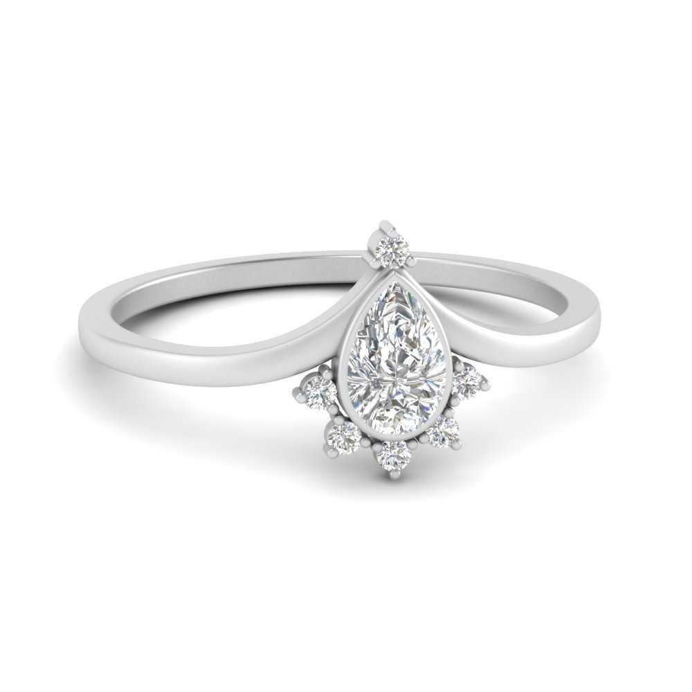 bezel-set-pear-crown-diamond-engagement-ring-in-FD9670PER-NL-WG