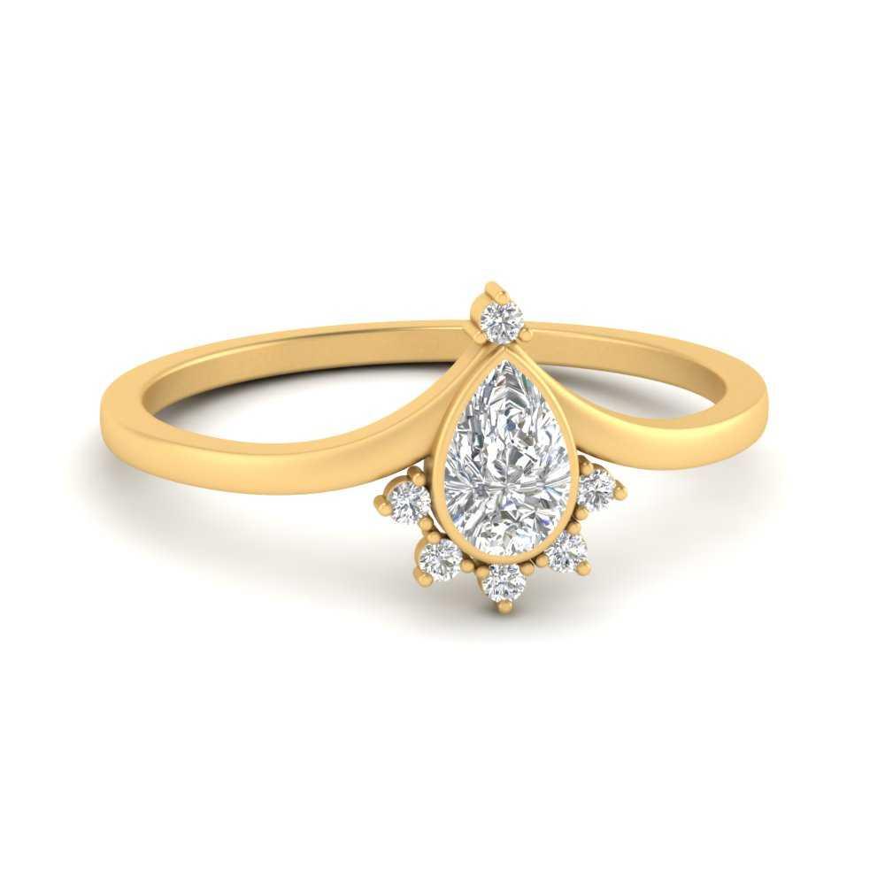 bezel-set-pear-crown-diamond-engagement-ring-in-FD9670PER-NL-YG