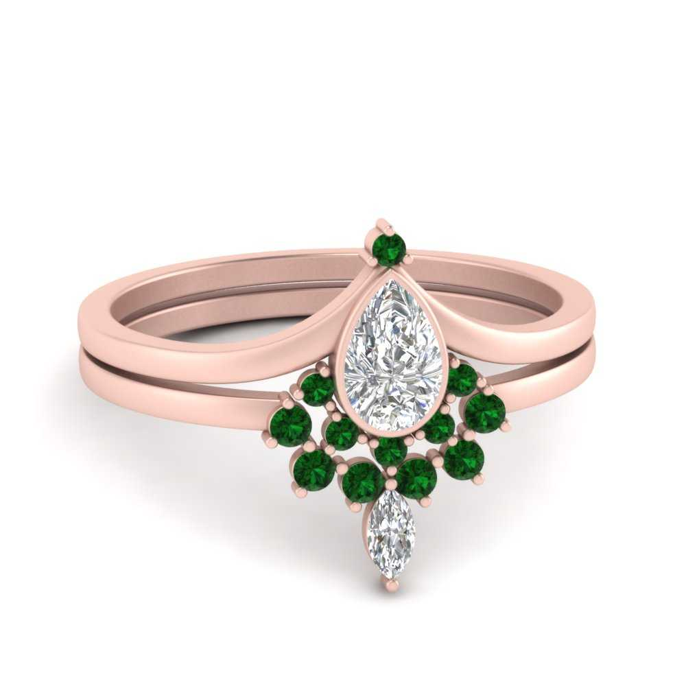 tiara-pear-bezel-emerald-wedding-ring-set-in-FD9670PEGEMGR-NL-RG