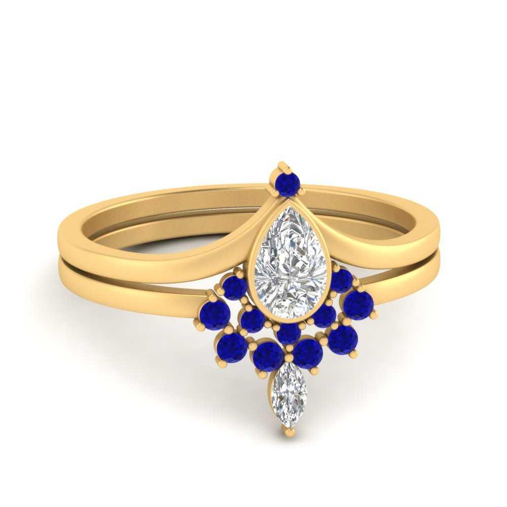 tiara-pear-bezel-sapphire-wedding-ring-set-in-FD9670PEGSABL-NL-YG