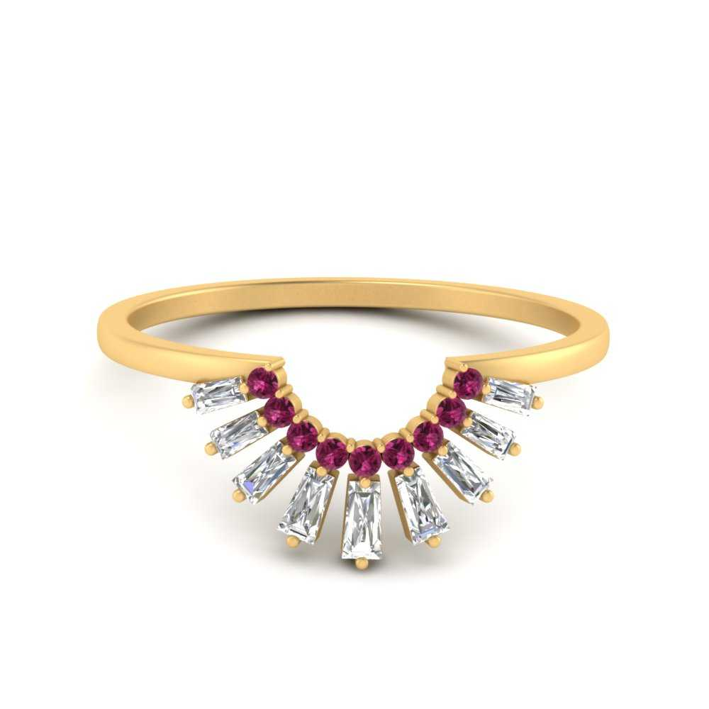 baguette-grown-curved-pink-sapphire-wedding-band-in-FD9699BGSADRPI-NL-YG