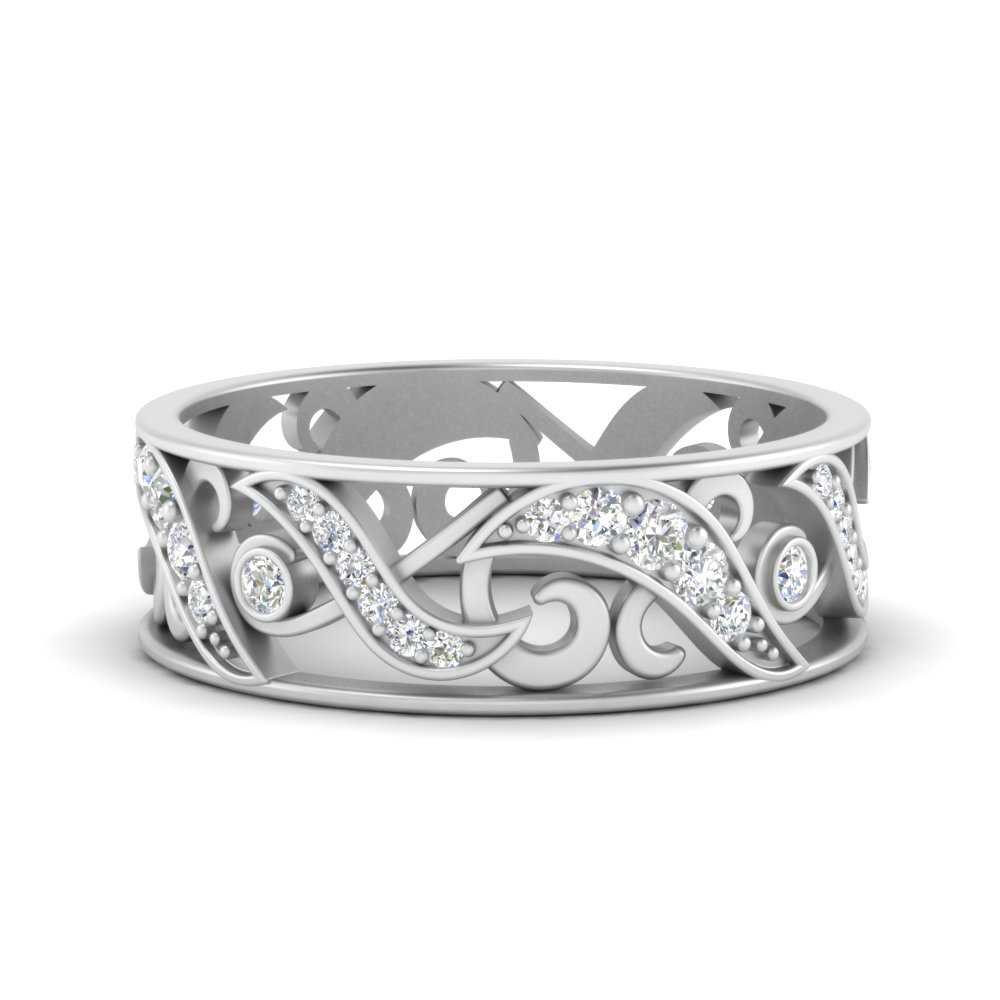 filigree-diamond-wedding-band-for-women-in-FD9708B-NL-WG
