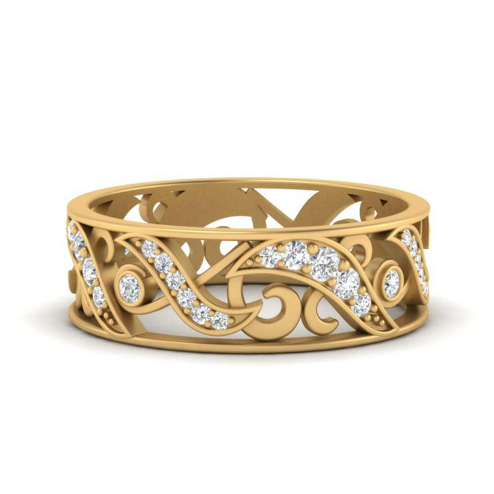 filigree-diamond-wedding-band-for-women-in-FD9708B-NL-YG