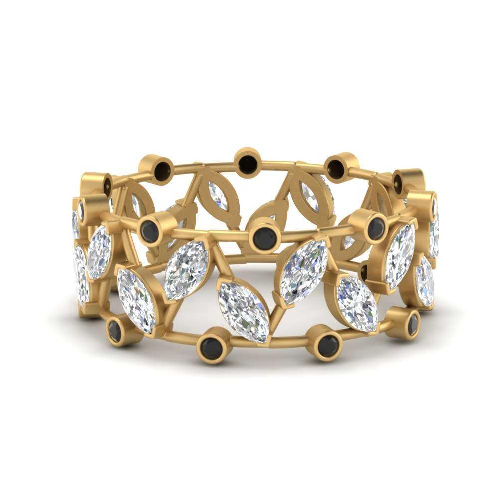 art-deco-marquise-wide-wedding-band-with-black-diamond-in-FD9712BGBLACK-NL-YG