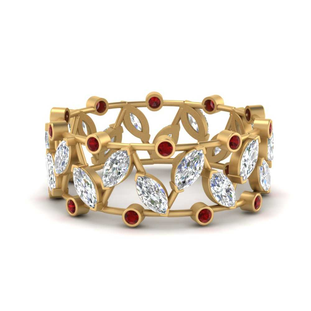 art-deco-marquise-wide-wedding-diamond-band-with-ruby-in-FD9712BGRUDR-NL-YG