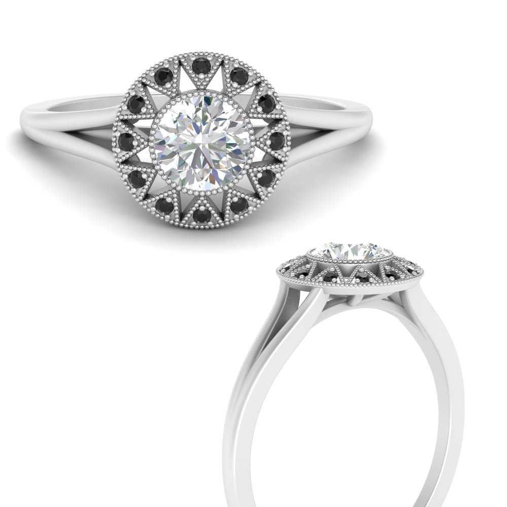 georgian-round-halo-black-diamond-engagement-ring-in-FD9718RORGBLACKANGLE3-NL-WG