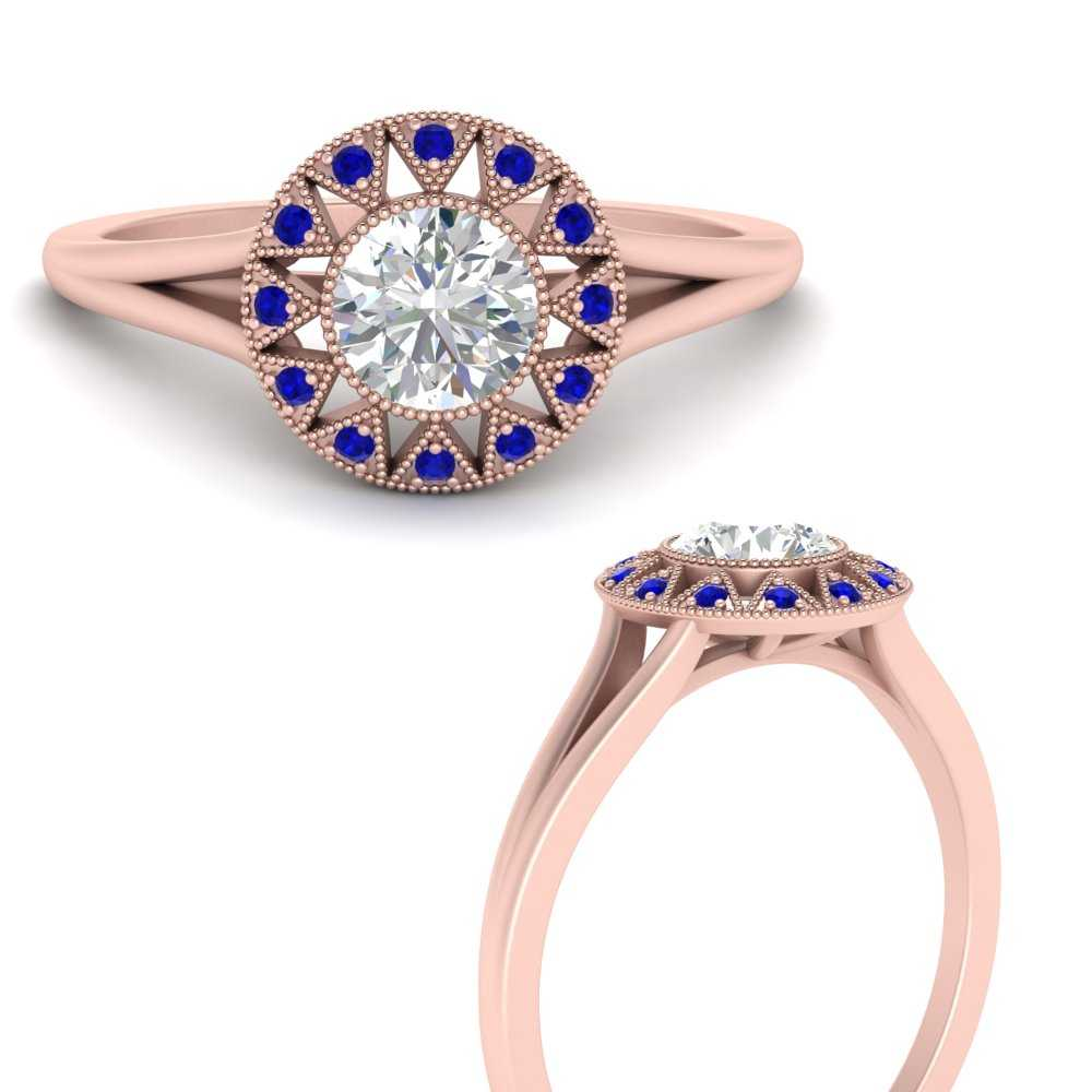 georgian-round-halo-sapphire-engagement-ring-in-FD9718RORGSABLANGLE3-NL-RG