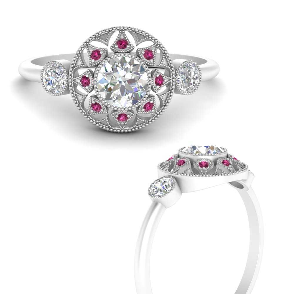 bezel-set-art-deco-round-diamond-engagement-ring-with-pink-sapphire-in-FD9747RORGSADRPIANGLE3-NL-WG