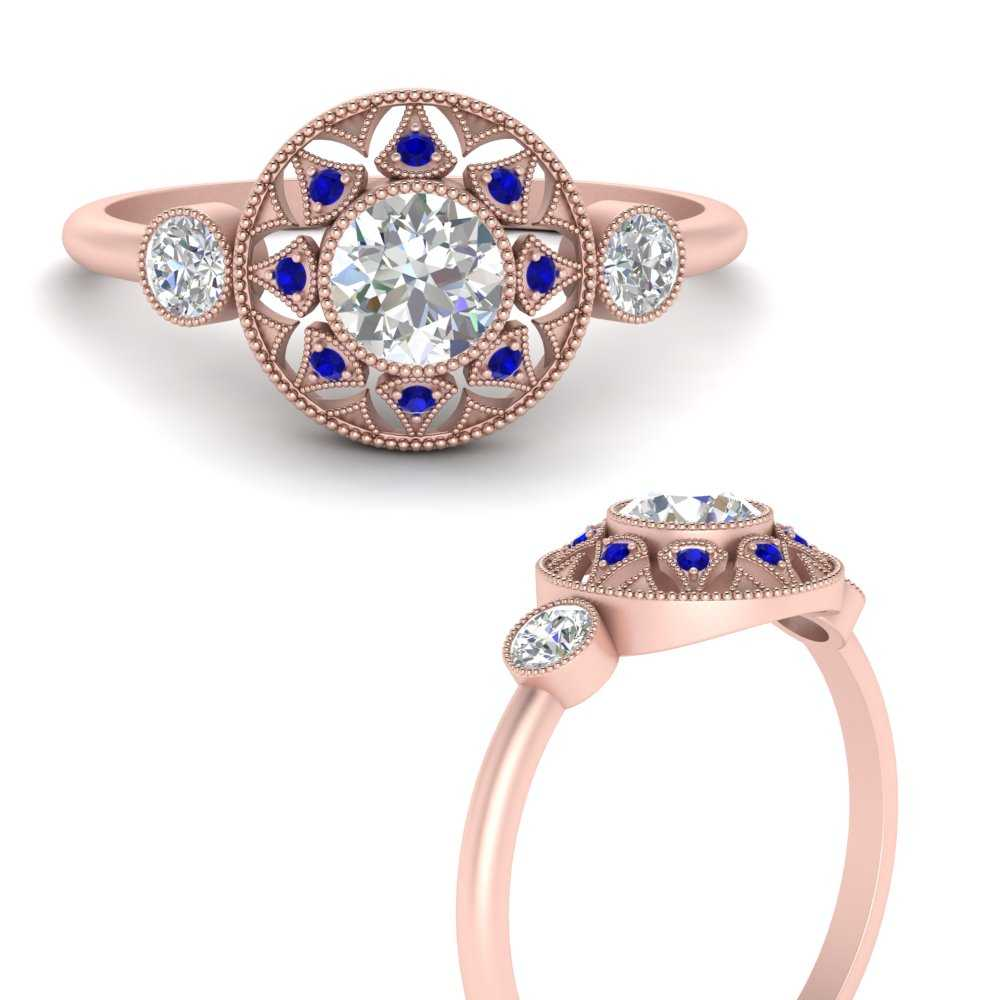 round-halo-diamond-milgrain-engagement-ring-with-sapphire-in-FD9747RORGSABLANGLE3-NL-RG