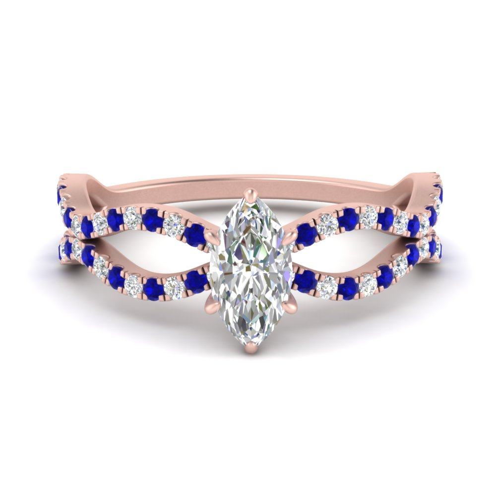 marquise-cut-pave-split-wave-diamond-engagement-ring-with-sapphire-in-FD9749MQRGSABL-NL-RG