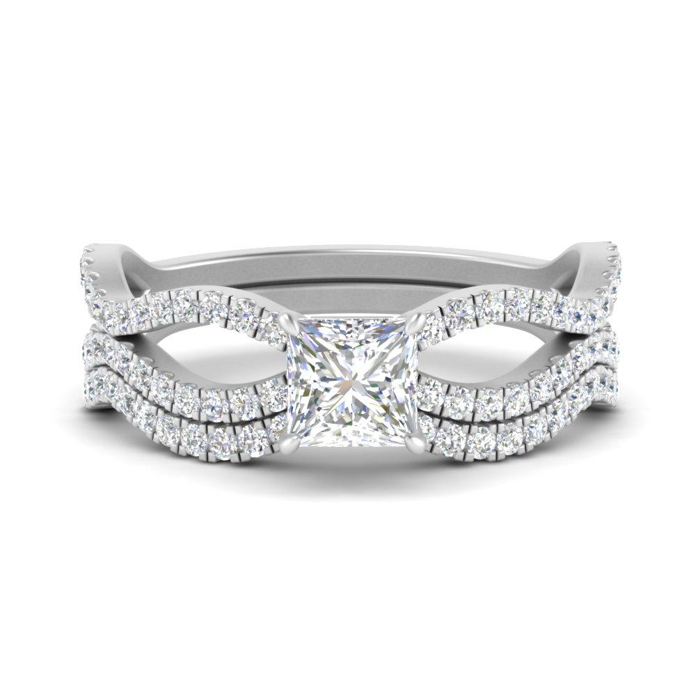 princess-cut-vintage-twisted-diamond-bridal-ring-set-in-FD9749PR-NL-WG
