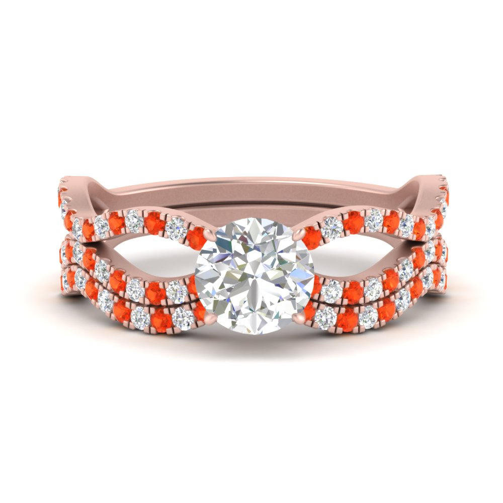 round-cut-vintage-twisted-diamond-bridal-ring-set-with-orange-topaz-in-FD9749ROGPOTO-NL-RG