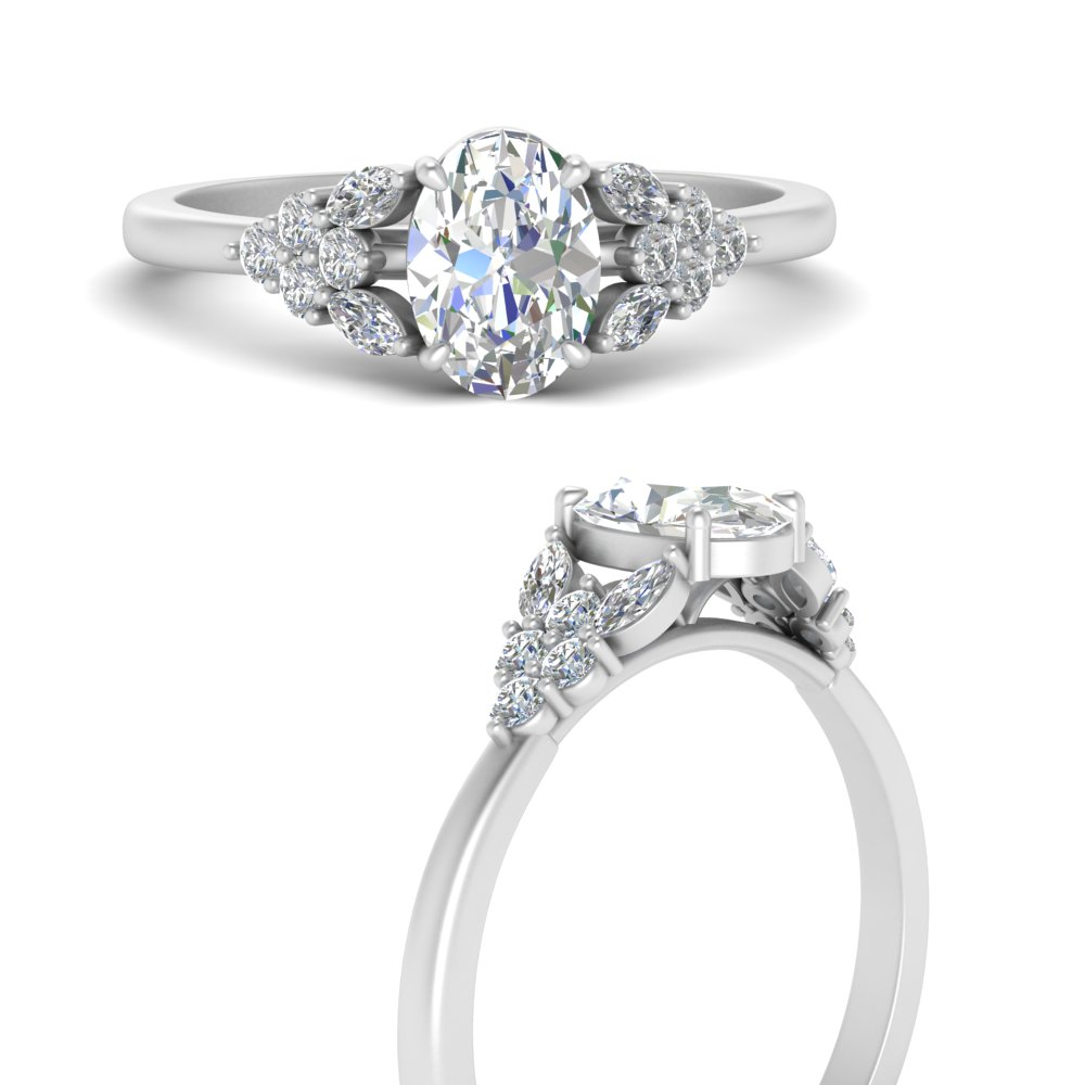 oval-shaped-beautiful-marquise-cluster-diamond-engagement-ring-in-FD9751OVRANGLE3-NL-WG