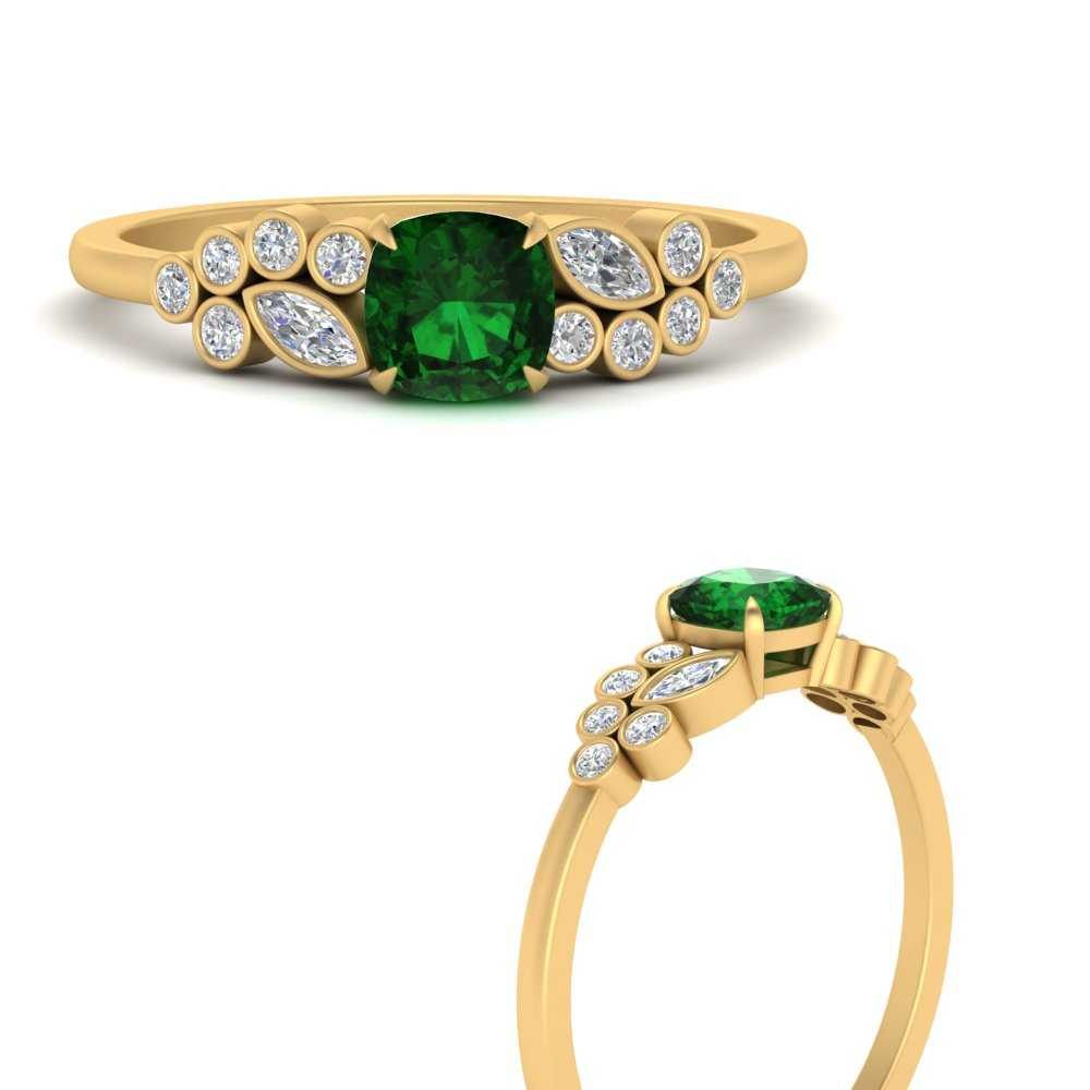 cushion-cut-cluster-emerald-engagement-ring-in-FD9777CURGEMGRANGLE3-NL-YG