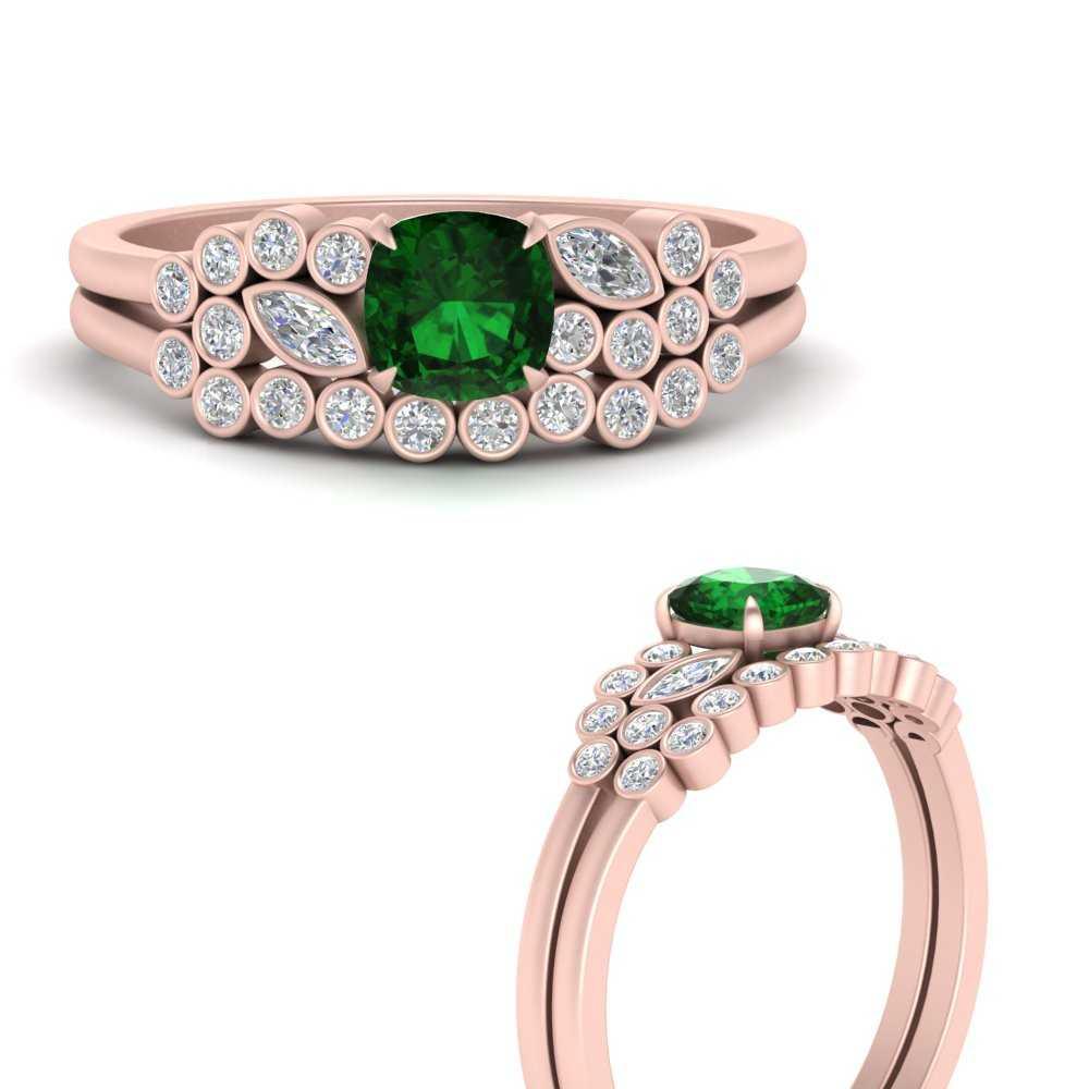 cushion-cut-cluster-emerald-wedding-ring-set-in-FD9777CUGEMGRANGLE3-NL-RG