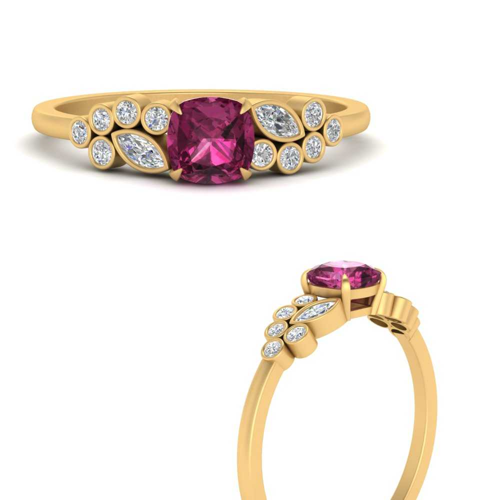 cushion-cut-cluster-pink-sapphire-engagement-ring-in-FD9777CURGSADRPIANGLE3-NL-YG