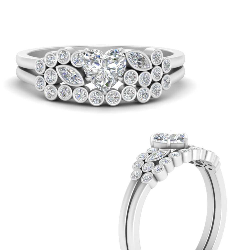 heart-shaped-diamond-unique-bezel-bridal-ring-set-in-FD9777HTANGLE3-NL-WG