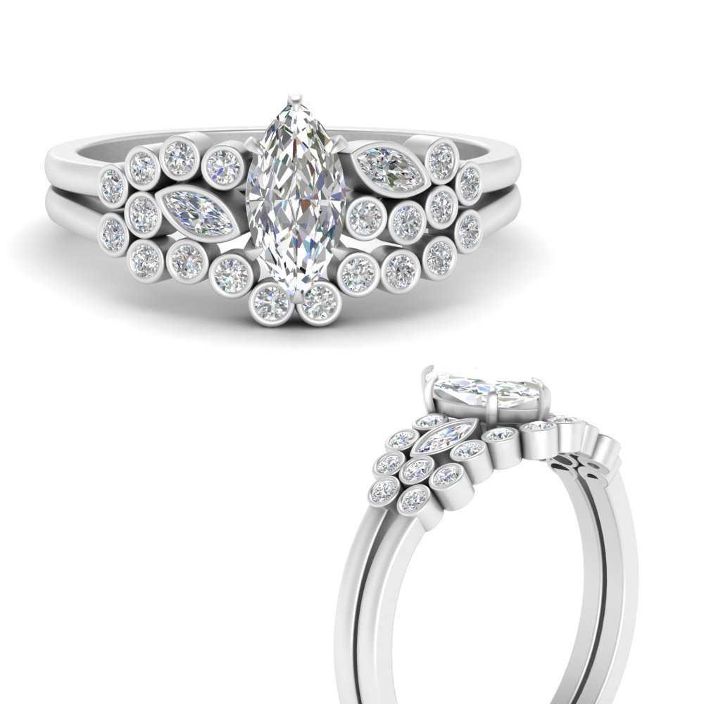 marquise-cut-diamond-unique-bezel-bridal-ring-set-in-FD9777MQANGLE3-NL-WG