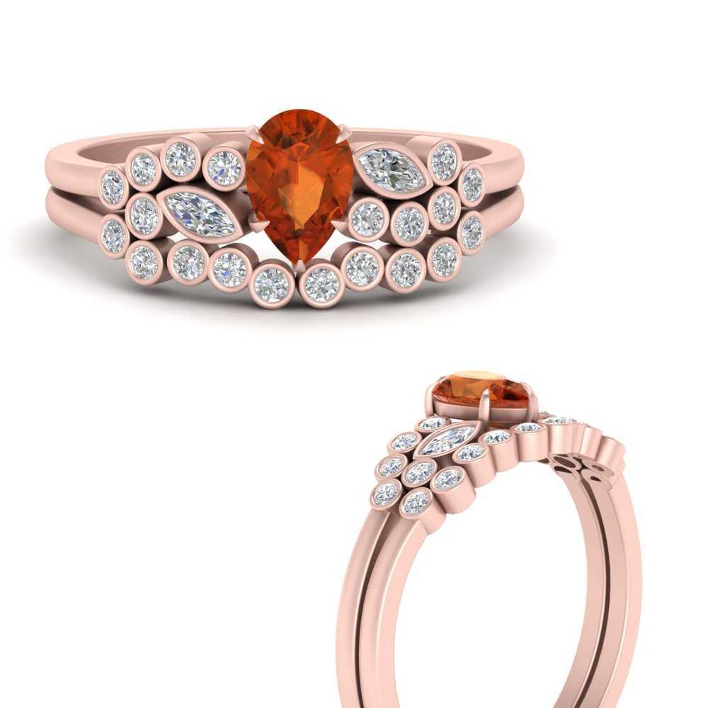 unique-pear-cluster-bezel-orange-sapphire-bridal-ring-set-in-FD9777PEGSAORANGLE3-NL-RG