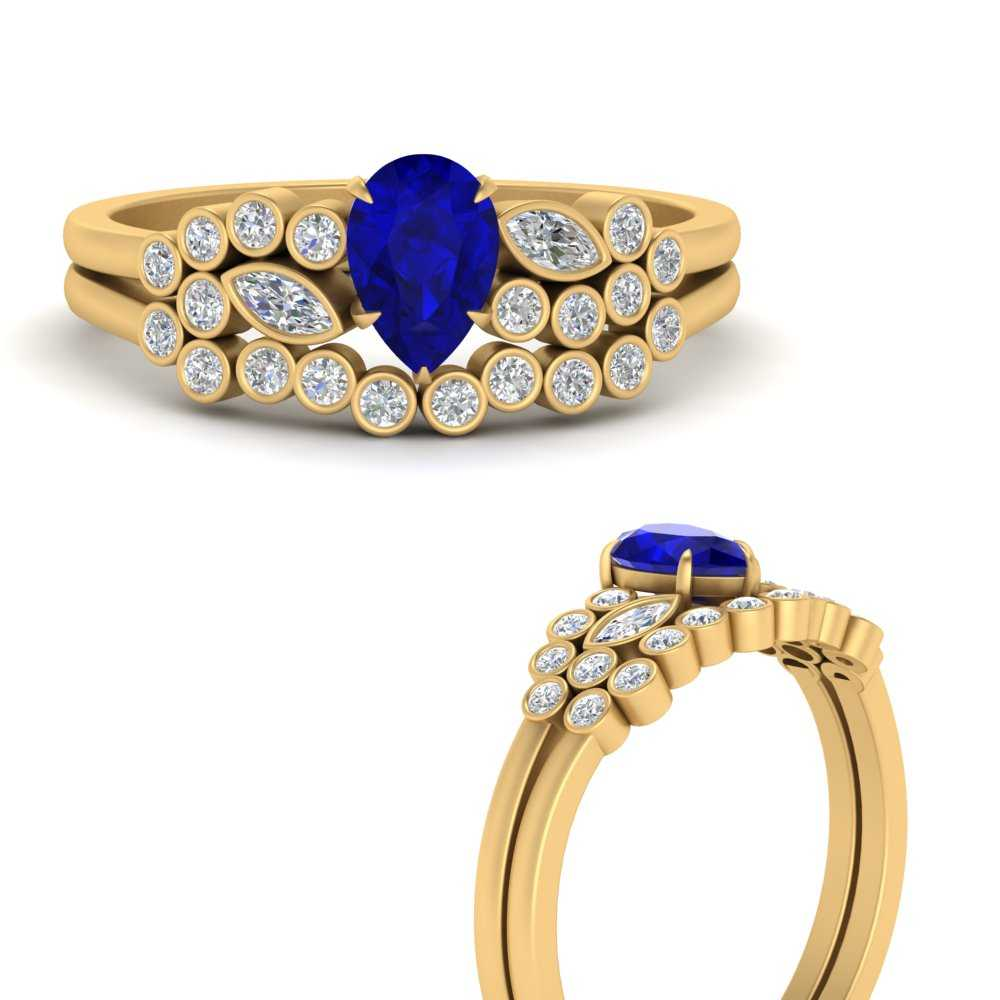 unique-pear-cluster-bezel-sapphire-bridal-ring-set-in-FD9777PEGSABLANGLE3-NL-YG