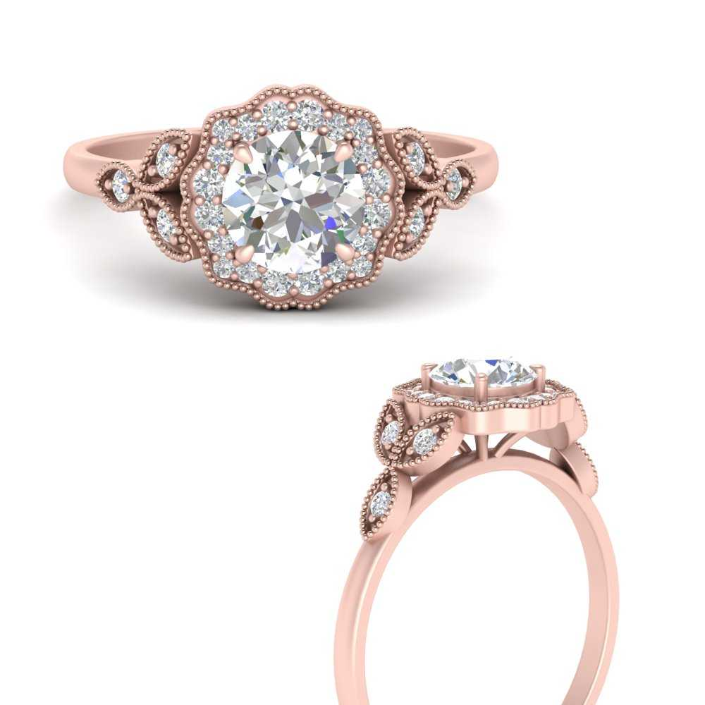 antique-Floral-Halo-diamond-engagement-ring-in-FD9784RORANGLE3-NL-RG