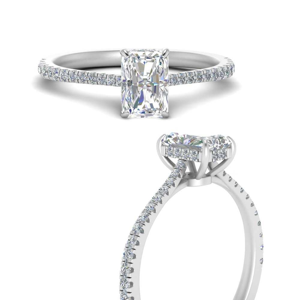 Cathedral Hidden Halo Diamond Ring