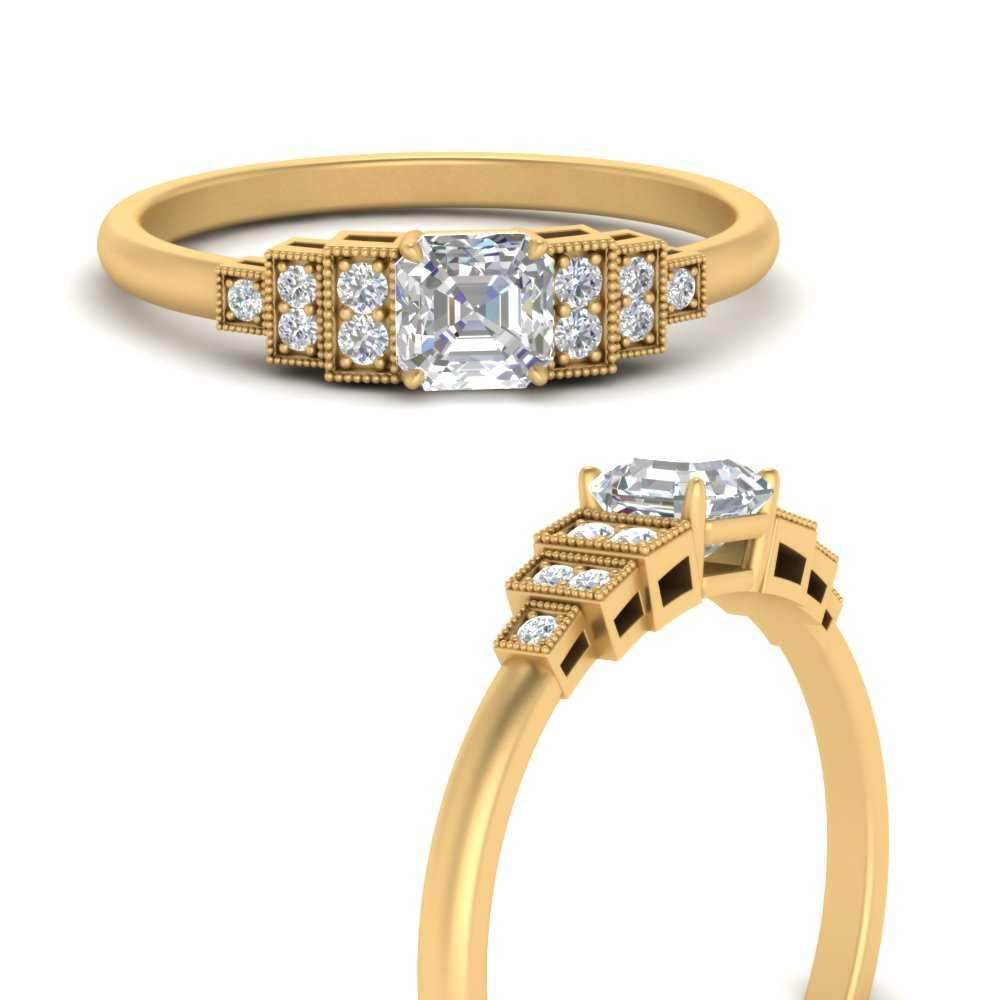 asscher-cut-art-deco-step-diamond-engagement-ring-in-FD9799ASRANGLE3-NL-YG