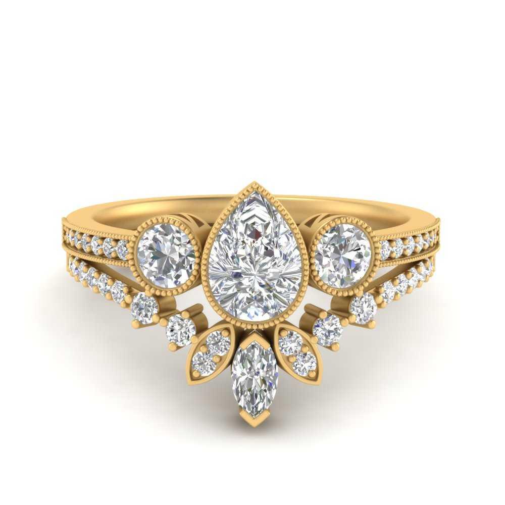 pear-shaped-art-deco-diamond-bridal-ring-set-in-FD9800PE-NL-YG