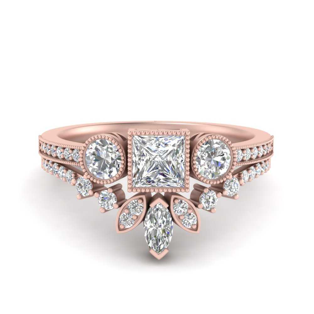 princess-cut-art-deco-diamond-bridal-ring-set-in-FD9800PR-NL-RG