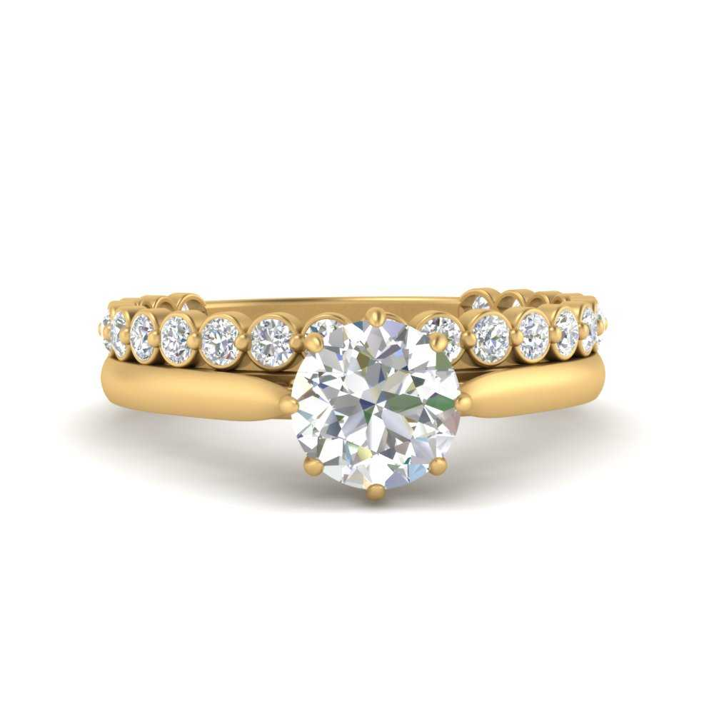 bezel-diamond-band-with-solitaire-engagement-ring-in-FD9806RO-NL-YG