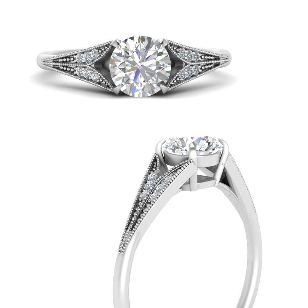 round-cut-diamond-split-shank-antique-engagement-ring-in-FD9813RORANGLE3-NL-WG
