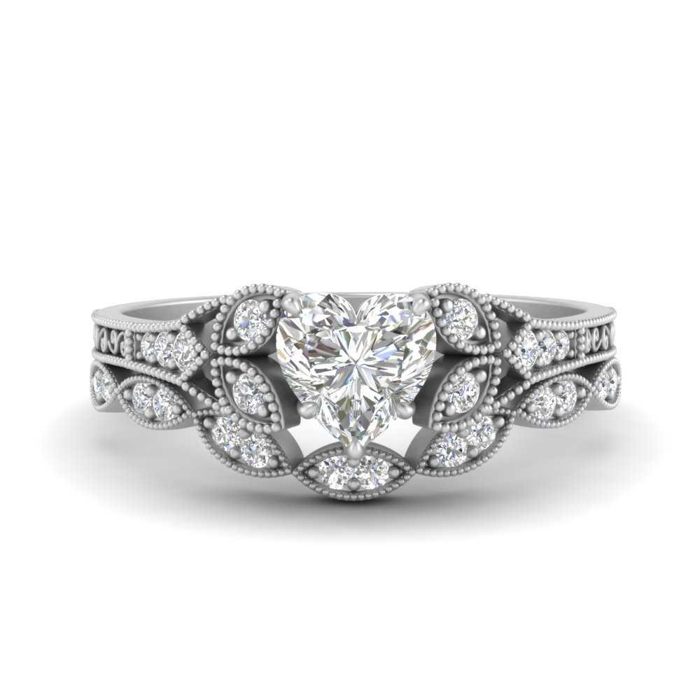 floral-heart-shaped-diamond-wedding-ring-set-in-FD9816HT-NL-WG