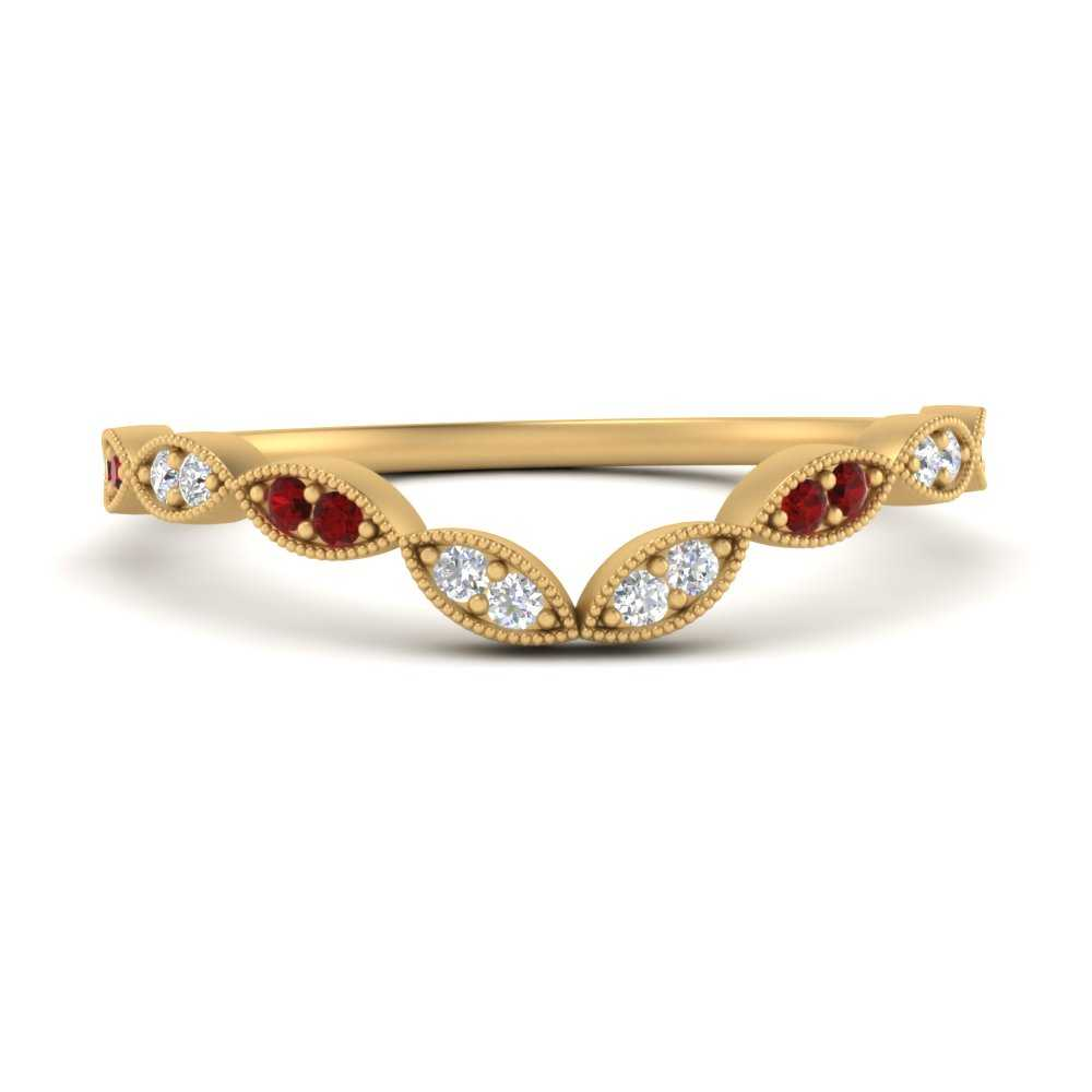 marquise-eye-curved-diamond-wedding-band-with-ruby-in-FD9816B2GRUDR-NL-YG