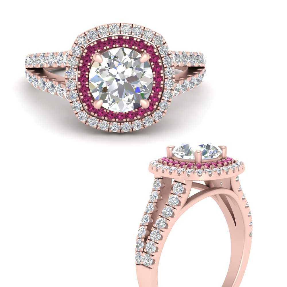 round-square-halo-diamond-engagement-ring-with-pink-sapphire-in-FD9817RORGSADRPIANGLE3-NL-RG
