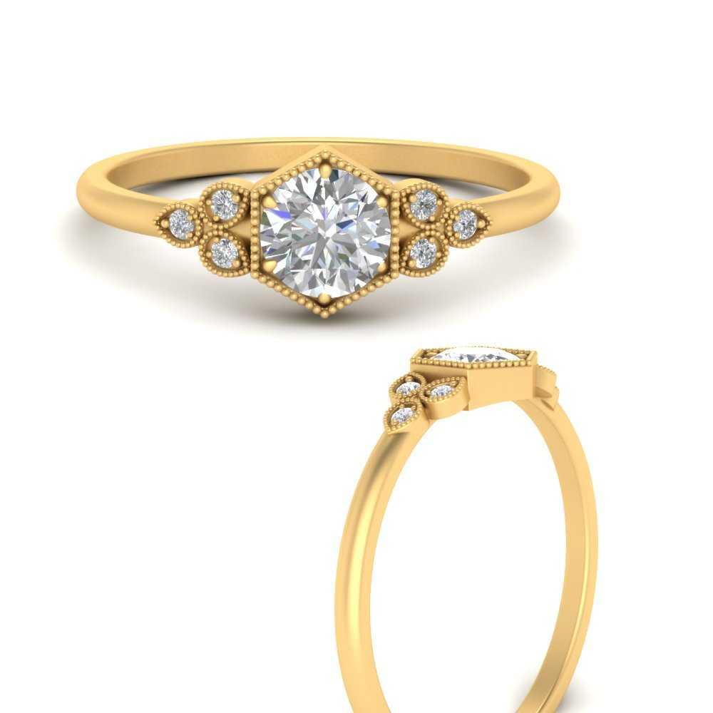 antique-hexagon-milgrain-diamond-ring-in-FD9819RORANGEL3-NL-YG